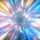 Abstract Space Flight With The Speed Of Light And Space Time Distortion