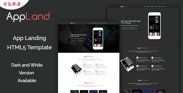 AppLand - Responsive App Template - Software Technology