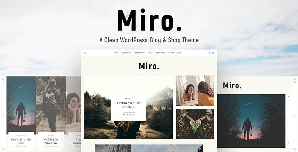 Image of Miro - A Clean WordPress Blog & Shop Theme