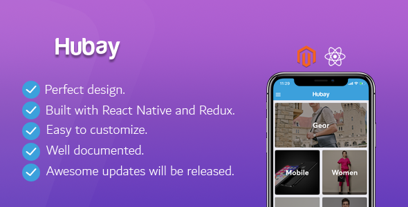 Complete React Native App for Magento2 eCommerce Websites - CodeCanyon Item for Sale