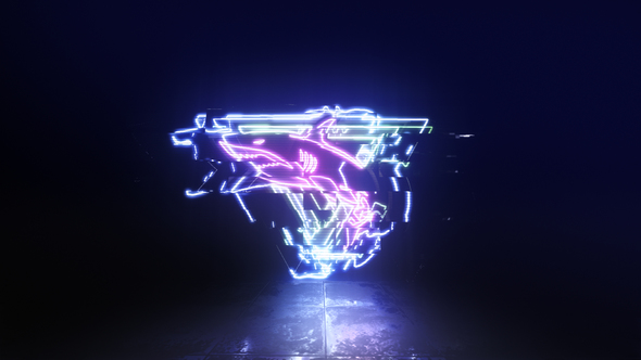 Glitch Neon Logo