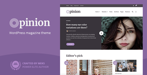 Image of Opinion - Modern News & Magazine Style WordPress Theme