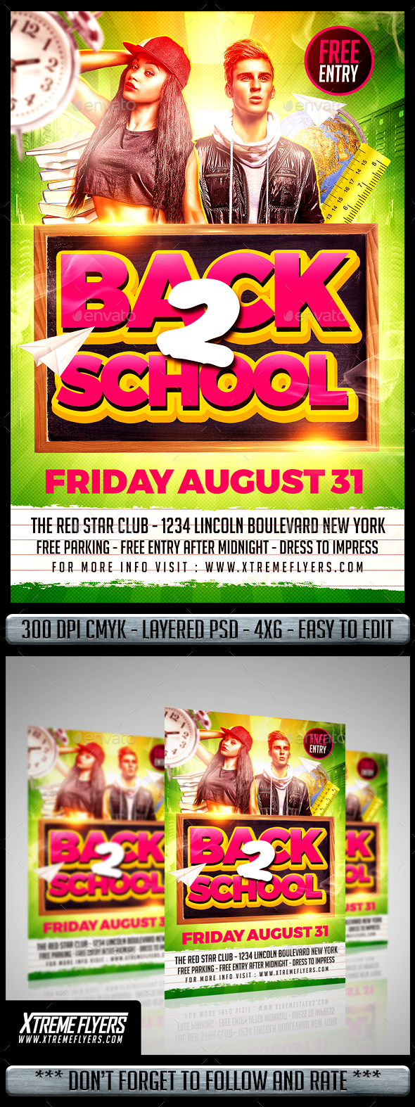 Back to School Flyer - Clubs & Parties Events