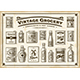 Vintage Grocery Set One Color - GraphicRiver Item for Sale