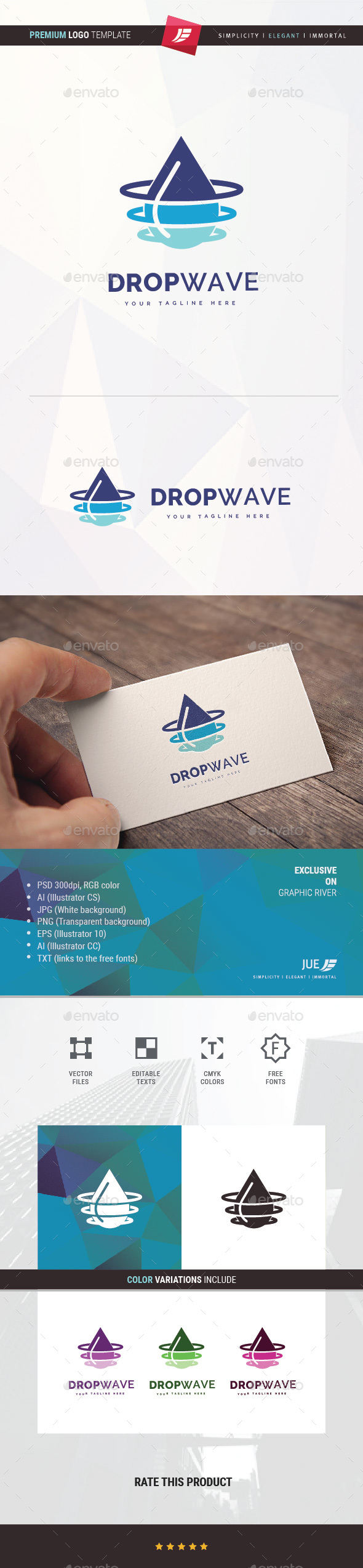 Drop Wave Logo - Symbols Logo Templates