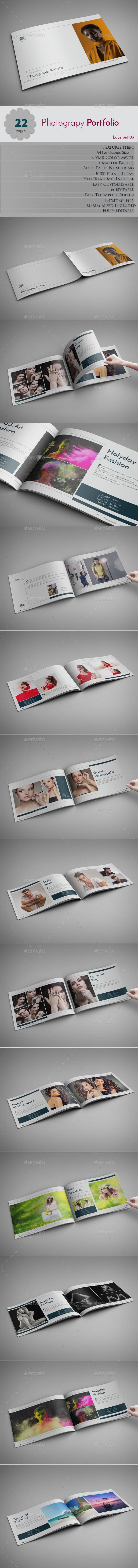 Photography Portfolio Layerout 03 - Photo Albums Print Templates