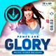 Power and Glory Square Church Flyer Template - GraphicRiver Item for Sale