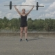 Female Athlete Doing Crossfit Deadlifts Outdoors - VideoHive Item for Sale