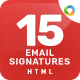 15 Email Signature Templates - HTML Files Included - Updated! - GraphicRiver Item for Sale