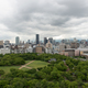 Aerial view of Osaka city from Osaka castle - PhotoDune Item for Sale