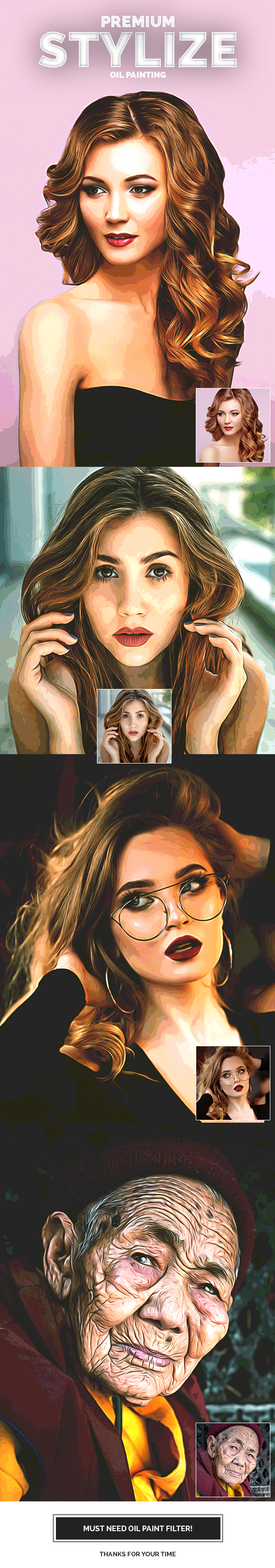 Premium Stylize Oil Painting - Photo Effects Actions