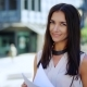 Portrait of a Fashionable Young Professional Woman. Attractive Young Caucasian Businesswoman Outside - VideoHive Item for Sale