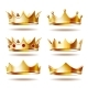 Set of Golden Crowns for King - GraphicRiver Item for Sale