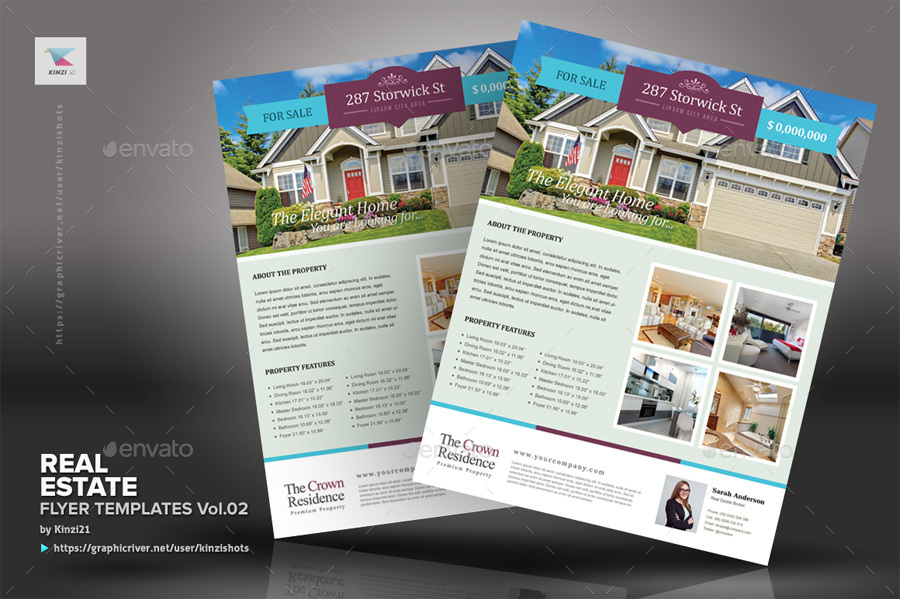 real estate flyer template vol 02 by kinzishots