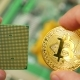 Gold Bitcoin BTC with PC Processor - VideoHive Item for Sale