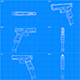 Blueprint - Glock G18 - 3DOcean Item for Sale