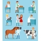 Veterinary Vector Veterinarian Doctor Man or Woman - GraphicRiver Item for Sale