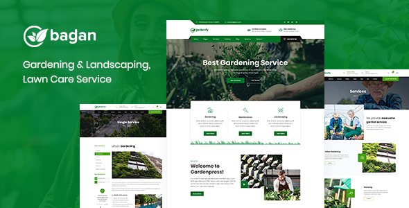 Image of Bagan - Lawn & Garden Landscaping HTML Template