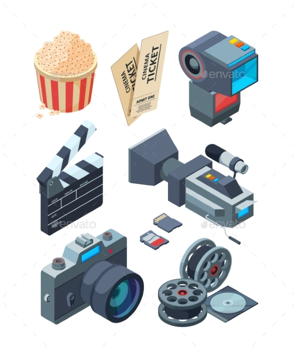 Isometric Video Cameras - Man-made Objects Objects