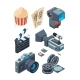 Isometric Video Cameras - GraphicRiver Item for Sale