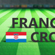 Soccer, football match, France vs Croatia, 3d illustration - PhotoDune Item for Sale