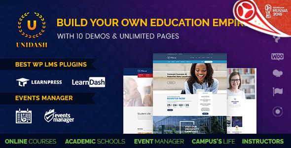 Image of Unidash - WordPress Theme for University and Online Education
