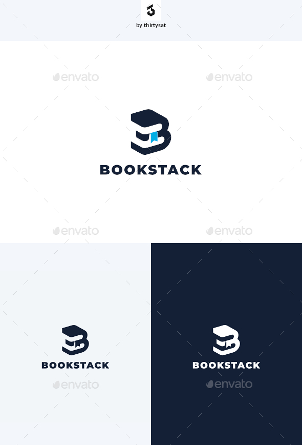 Book Stack Logo - Letters Logo Templates