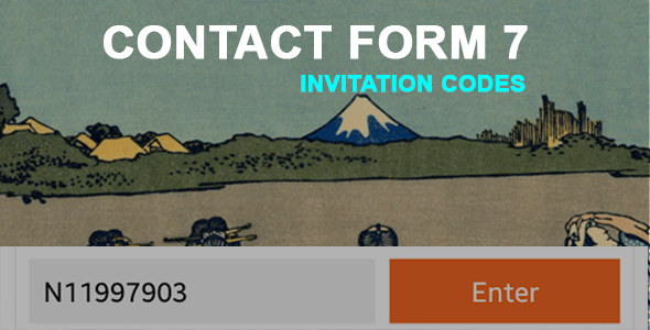 Contact Form 7 Invitation Codes - CodeCanyon Item for Sale