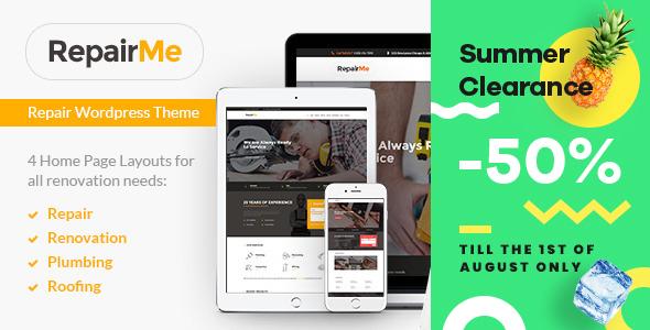 RepairMe - Construction & Renovation WordPress Theme - Business Corporate