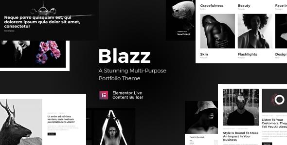 Blazz - Creative Multi-Concept Portfolio WordPress Theme - Creative WordPress