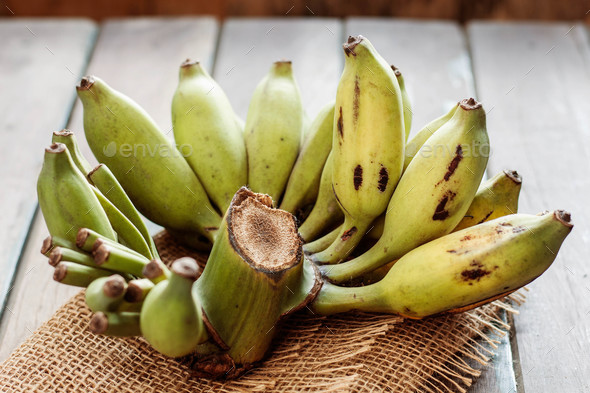 bananas on table - Stock Photo - Images