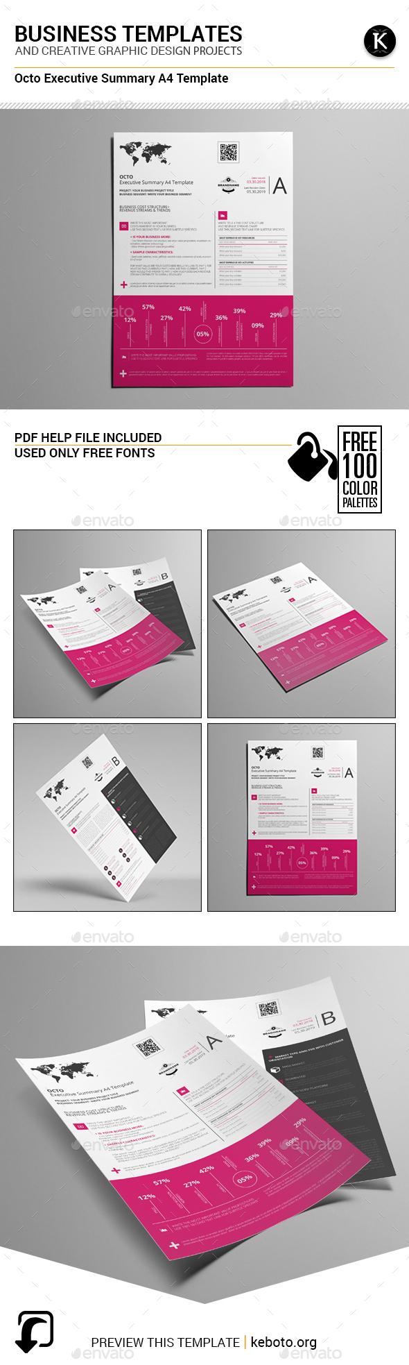 Octo Executive Summary A4 Template - Miscellaneous Print Templates