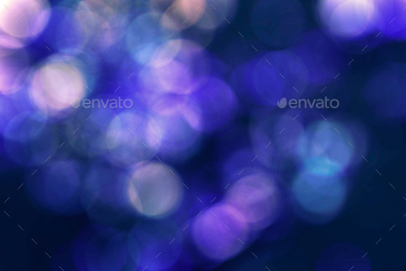 bokeh colors on blue background - Stock Photo - Images