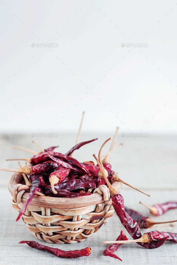 Chilli on wooden floor - Stock Photo - Images