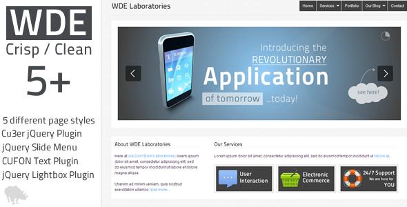 Free Download WDE Crisp / Clean 5+ HTML Design Nulled Latest Version