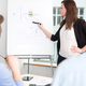 Businesswoman Explaining On Flipchart To Colleagues In Office - PhotoDune Item for Sale