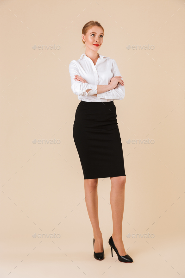 Amazing young business woman - Stock Photo - Images