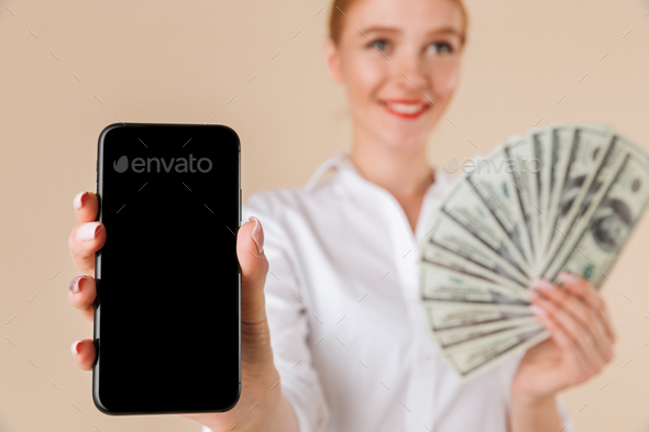 Close up of a smiling businesswoman - Stock Photo - Images