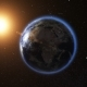 Sunrise View From Space on Planet Earth - VideoHive Item for Sale
