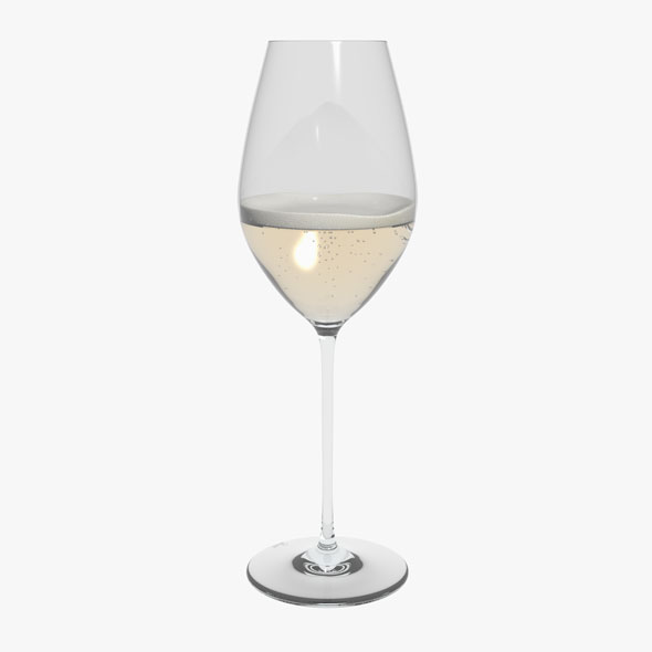 Glass Riedel Superleggero Champagne Wine With Wine - 3DOcean Item for Sale
