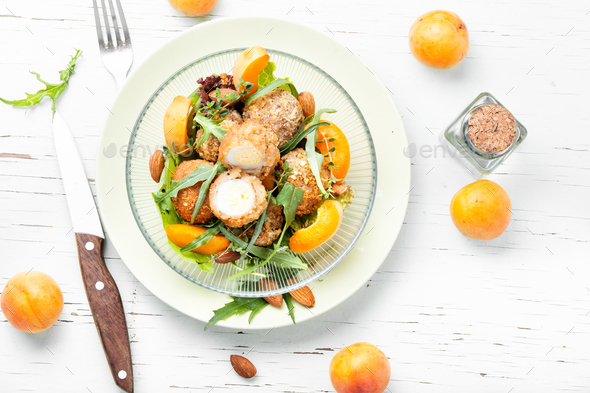 Summer salad with apricot - Stock Photo - Images