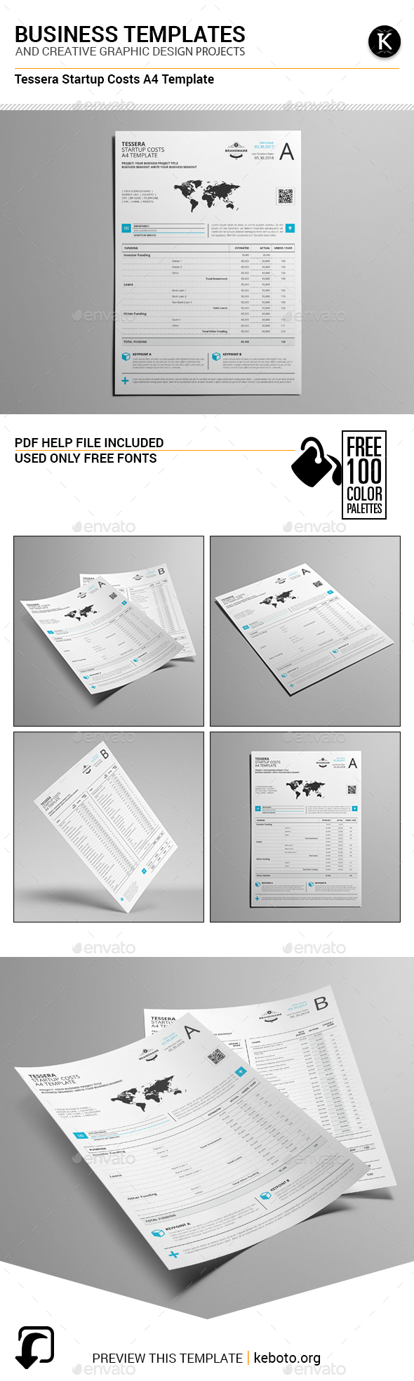 Tessera Startup Costs A4 Template - Miscellaneous Print Templates