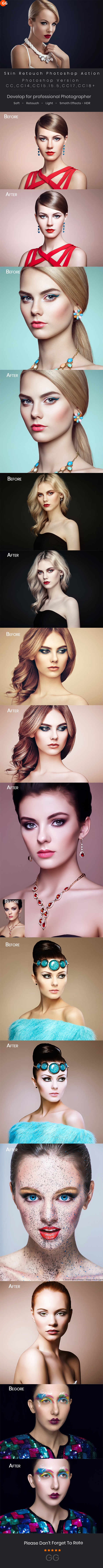 10 Skin Retouch Photoshop Action - Photo Effects Actions
