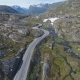 Aerial View of Mountain and Road To Dalsnibba Travelling Caravan Norway - VideoHive Item for Sale