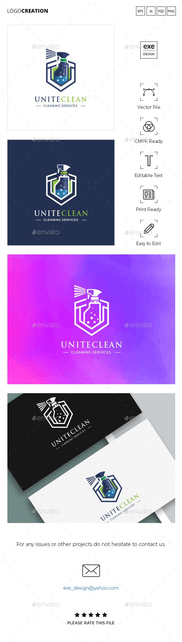 Cleaning Logo - Company Logo Templates