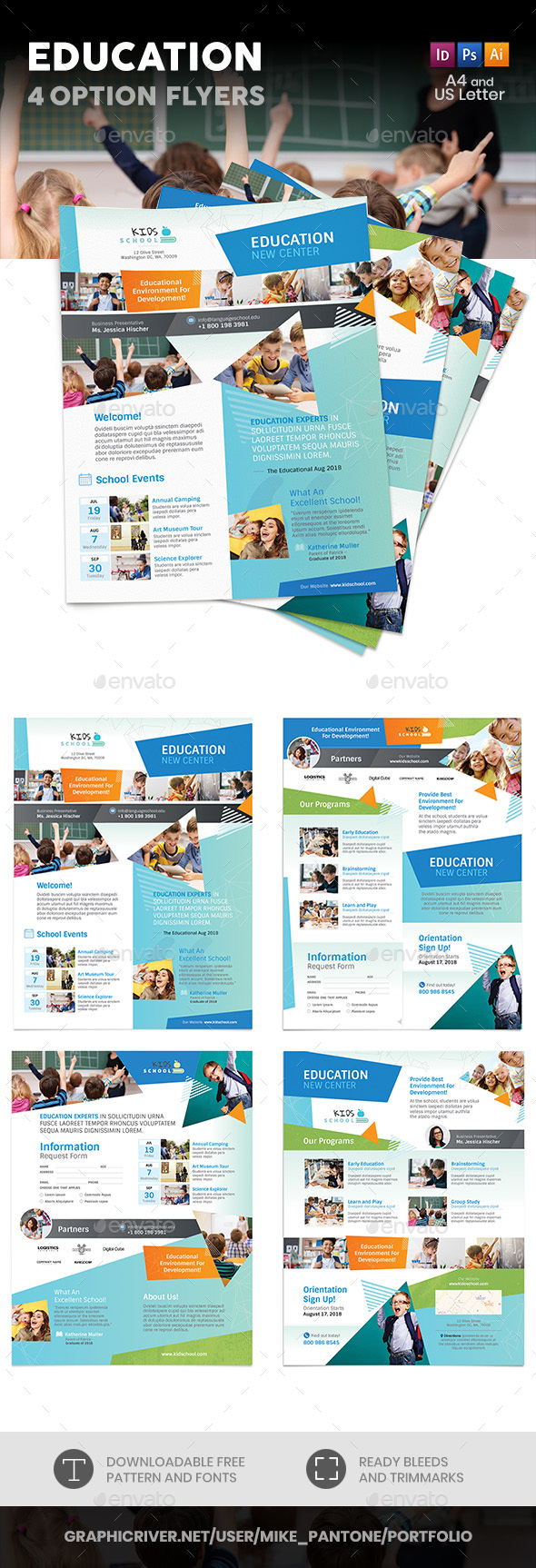 Education Flyers 11– 4 Options - Corporate Flyers
