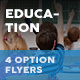 Education Flyers 11– 4 Options