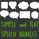 Simple and Flat Speech Bubbles - VideoHive Item for Sale