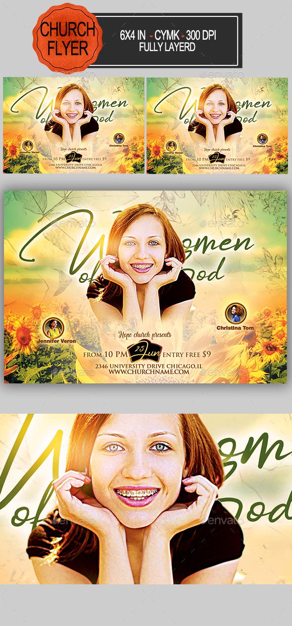 Women of God Flyer - Church Flyers