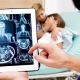 Doctor Zooming and Checking MSI Results in Hospital Room - VideoHive Item for Sale